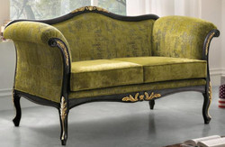 Casa Padrino luxury baroque living room sofa green / black / gold 165 x 82 x H. 96 cm - Noble baroque style living room furniture