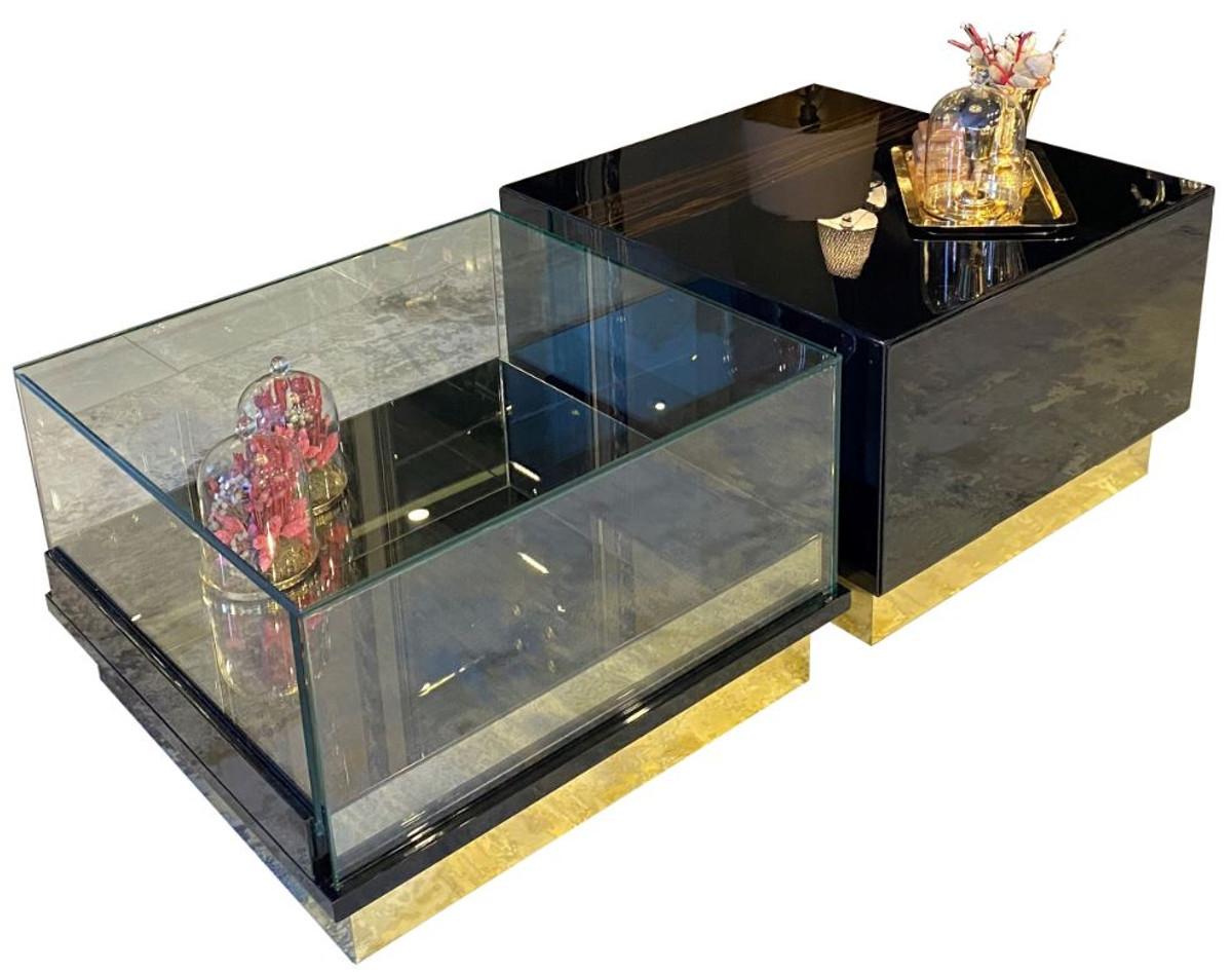- Casa Padrino Luxury Art Deco Coffee Table Dark Brown / Black