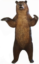 Casa Padrino decoration sculpture bear brown / black H. 240 cm - Life Sized Decorative Animal Figure - Weatherproof Garden Decoration Figure