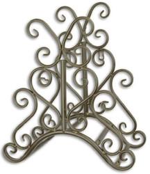 Casa Padrino Art Nouveau garden hose wall holder brown 31.6 x H. 34.5 cm - Nostalgic metal hose wall holder - Baroque & Art Nouveau Garden Accessories