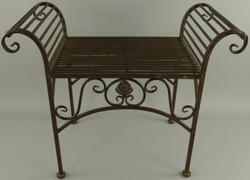Casa Padrino Art Nouveau garden stool rust 68 x 34 x H. 55 cm - Metal stool - Garden & patio furniture