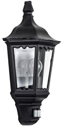 Casa Padrino Art Nouveau outdoor wall lamp with motion sensor black 20 x 12 x H. 50 cm - Balcony Garden Terraces Outdoor Light