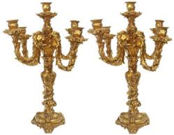 Casa Padrino Barock Kerzenhalter Set Gold 44 x 44 x H. 57 cm - Barock Deko Accessoires