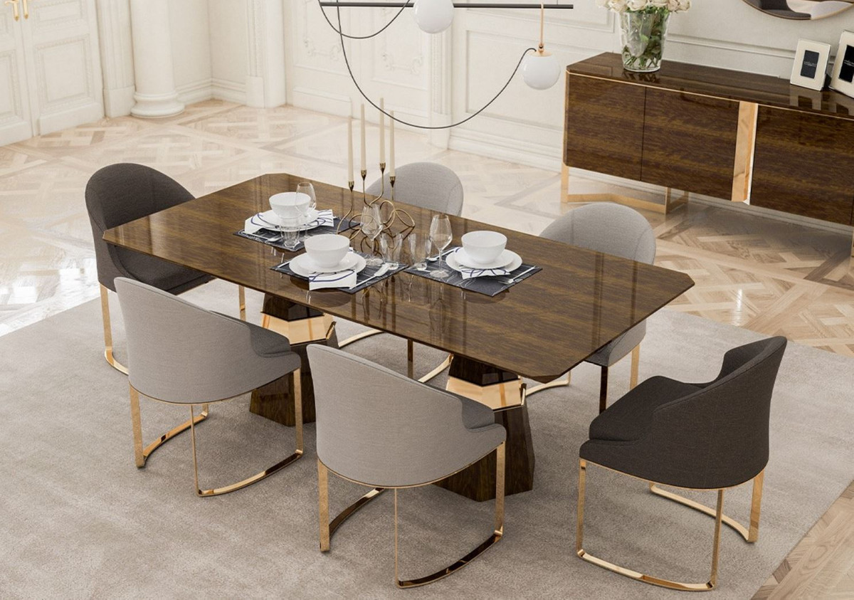 Cucina Letters Kitchen Decor, Casa Padrino Luxury Dining Room Set 1 Dining Table 6 Dining Chairs Kitchen Furniture Dining Room Furniture Luxury Quality