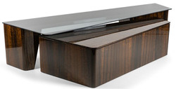 Casa Padrino luxury coffee table set brown - 2 rectangular living room tables - Luxury living room furniture