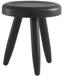 Casa Padrino luxury stool black Ø 31 x H. 34 cm - Solid wood stool - Round Mindi wood stool - Luxury Furniture