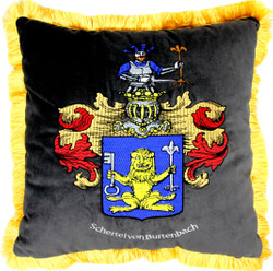 Casa Padrino luxury decorative pillow crest Freiherr Schertel by Burtenbach gray / gold