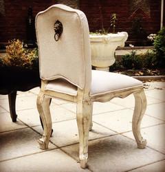 Casa Padrino luxury Baroque Dinner Chair Lion Natural linen - Furniture Restaurant Hotel