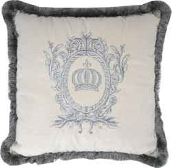Harald Glööckler luxury decorative pillow Pompöös by Casa Padrino Creme / Silver - Glööckler pillow