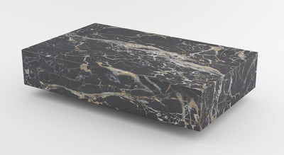 Casa Padrino luxury marble coffee table black 140 x 80 x H. 32 cm - Rectangular living room table made of high quality Emperador marble - Luxury Furniture