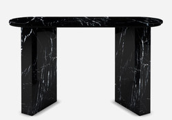 Casa Padrino luxury marble console black 150 x 45 x H. 90 cm - Modern console table made of high quality marble - Luxury Furniture