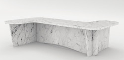 Casa Padrino luxury marble coffee table white 140 x 70 x H. 35 cm - Rectangular living room table made of high quality Spanish Carrara marble - Luxury Furniture