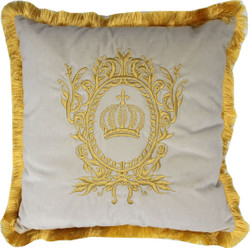 Harald Glööckler luxury decorative pillow Pompöös by Casa Padrino cream / gold - Glööckler pillow
