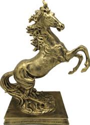 Casa Padrino sculpture wild horse gold H 45 x 35 x 20 cm - figure decoration baroque