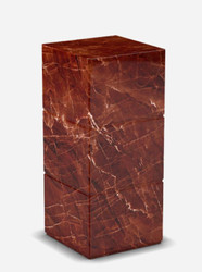 Casa Padrino luxury Travertine marble side table red 33 x 33 x H. 75 cm - Living room furniture - Marble Furniture - Luxury Collection