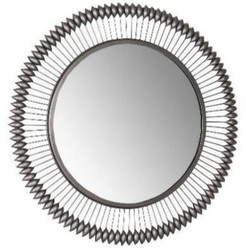 Casa Padrino designer mirror zinc Ø 90 cm - Modern powder coated metal wall mirror - Luxury decorative accessories