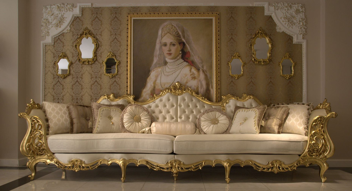 Casa Padrino Luxury Baroque Living Room, Living Room Sofa