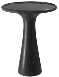 Casa Padrino luxury side table black Ø 46.5 x H. 60 cm - Round side table made of high quality marble - Luxury living room furniture