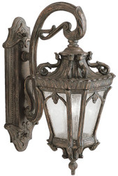 Casa Padrino baroque outdoor wall lamp antique bronze 25.4 x 37.5 x H. 61 cm - Elegant balcony garden terrace outdoor lamp - Nostalgic outdoor lighting