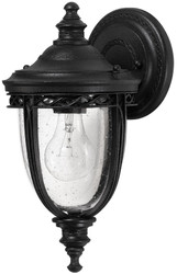 Casa Padrino baroque outdoor wall lamp black 16.5 x 19 x H. 32 cm - Elegant balcony garden terrace outdoor lamp - Outdoor lighting in baroque style