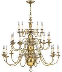 Casa Padrino baroque brass chandelier Ø 123.2 x H. 116.8 cm - Magnificent hotel & restaurant chandelier in baroque style - Luxury Quality