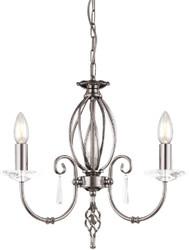 Casa Padrino baroque chandelier silver Ø 38 x H. 42 cm - Elegant living room chandelier - Chandelier in baroque style