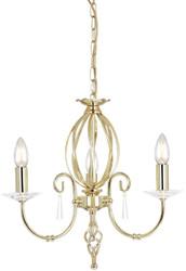 Casa Padrino baroque chandelier brass Ø 38 x H. 42 cm - Elegant living room chandelier - Chandelier in baroque style