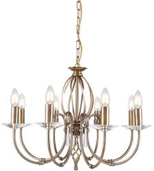 Casa Padrino baroque chandelier antique brass Ø 65 x H. 46 cm - Elegant living room chandelier - Chandelier in baroque style
