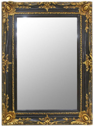 Casa Padrino baroque mirror black / gold 90 x 10 x H. 120 cm - Handmade wall mirror in baroque style - Wardrobe mirror - Living room mirror - Baroque Furniture