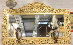 Casa Padrino baroque mirror gold 210 x H. 150 cm - Huge handmade antique style wall mirror - Magnificent baroque furniture