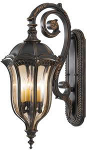Casa Padrino baroque outdoor wall lamp brown / bronze / gold 30.5 x 45.7 x H. 76.2 cm - Elegant balcony garden terrace outdoor lamp - Outdoor lighting in baroque style