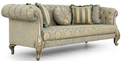 Casa Padrino luxury baroque living room set green / gold / gray / gold - 2 Sofas & 2 Armchairs - Living room furniture in baroque style - Noble & Magnificent 2