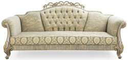 Casa Padrino luxury baroque living room set green / gold / gray / gold - 2 Sofas & 2 Armchairs - Living room furniture in baroque style - Noble & Magnificent 3
