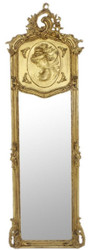 Casa Padrino baroque mirror antique gold 55 x H. 175 cm - Handmade antique style wall mirror - Full-length mirror - Wardrobe mirror - Living room mirror - Baroque style furniture