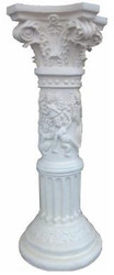 Casa Padrino Baroque Decorative Pillar White H. 77 cm - Noble Living Room Decorative Pillar - Decorative Accessories in Baroque Style