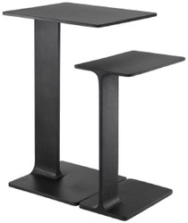 Casa Padrino luxury side table set black - 2 Tables made of high quality aluminum - Living room furniture - Luxury Quality