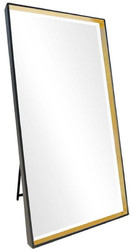 Casa Padrino luxury standing mirror black / gold 100 x H. 200 cm - Full length mirror - Bedroom mirror - Bedroom furniture