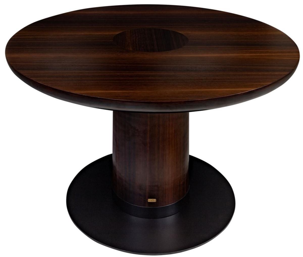 Casa Padrino luxury eucalyptus veneer dining table dark brown Ø ...