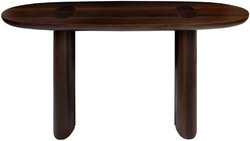 Casa Padrino luxury eucalyptus veneer console dark brown 180 x 45 x H. 75 cm - Solid wood console table - Living room furniture - Luxury Quality