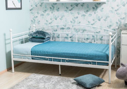 Casa Padrino country style bed 209 x 98 x H. 95 cm - Different Colors - Metal single bed - Bedroom furniture in country style