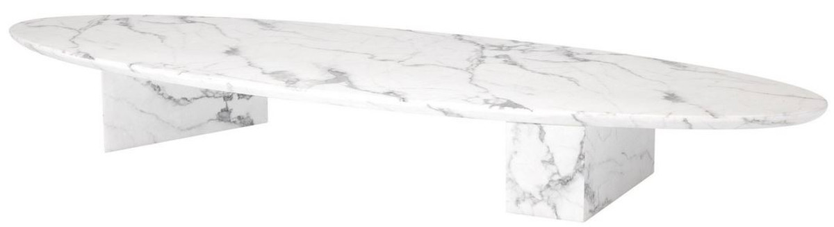 Casa Padrino Luxury Faux Marble Coffee Table White 240 X 80 X H 28 5 Cm Oval Living Room Table Living Room Furniture Luxury Quality