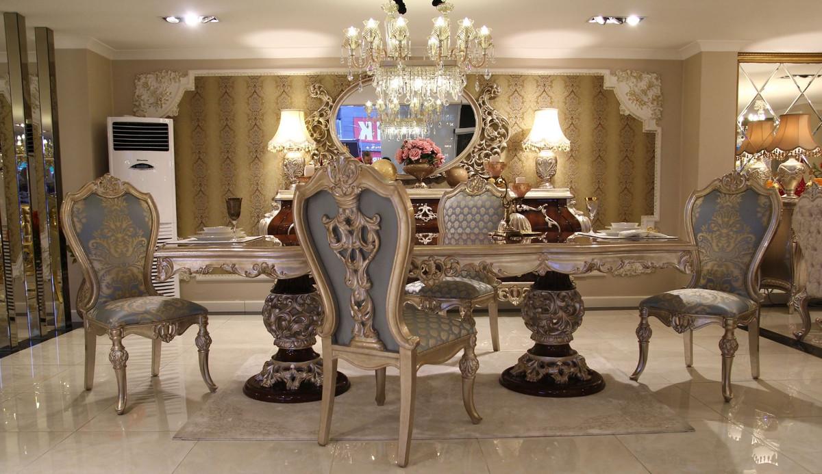 Casa Padrino Luxus Barock Esszimmer Set 1 Esstisch 8 Esszimmerstuhle Esszimmermobel Im Barockstil Edel Prunkvoll Luxus Qualitat