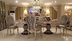 Casa Padrino Luxus Barock Esszimmer Set - 1 Esstisch & 8 Esszimmerstühle - Esszimmermöbel im Barockstil - Edel & Prunkvoll - Luxus Qualität
