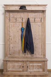 Casa Padrino Country Style Wardrobe Natural 140 x 41 x H. 210 cm - Solid Wood Wardrobe - Country Style Wardrobe Furniture