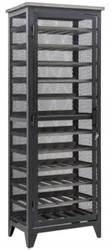 Casa Padrino industrial style wine cabinet black gray / gray 67 x 44 x H. 184 cm - Industrial design metal wine cabinet with door - Bar furniture in industrial style