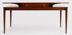 Casa Padrino Luxus Art Deco Schreibtisch mit Schublade Braun 154 x 80 x H. 78 cm - Massivholz Bürotisch - Büromöbel - Luxus Qualität
