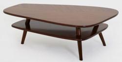 Casa Padrino Luxus Couchtisch Dunkelbraun 105 x 84 x H. 39 cm - Massivholz Wohnzimmertisch - Luxus Wohnzimmer Möbel