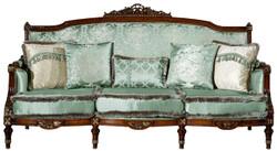 Casa Padrino luxury baroque sofa light green / brown 227 x 90 x H. 126 cm - Living room sofa with decorative pillows - Baroque Furniture