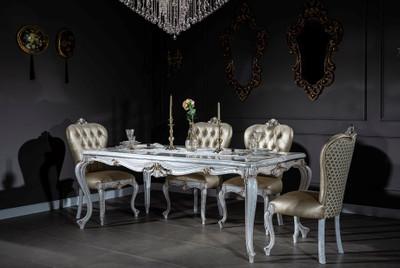 Casa Padrino set da pranzo barocco di lusso oro / bianco ...