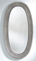 Casa Padrino Luxury Mirror Silver 89 x 5 x H. 170 cm - Elegant Oval Wall Mirror - Wardrobe Mirror - Living Room Mirror - Luxury Decoration Accessories